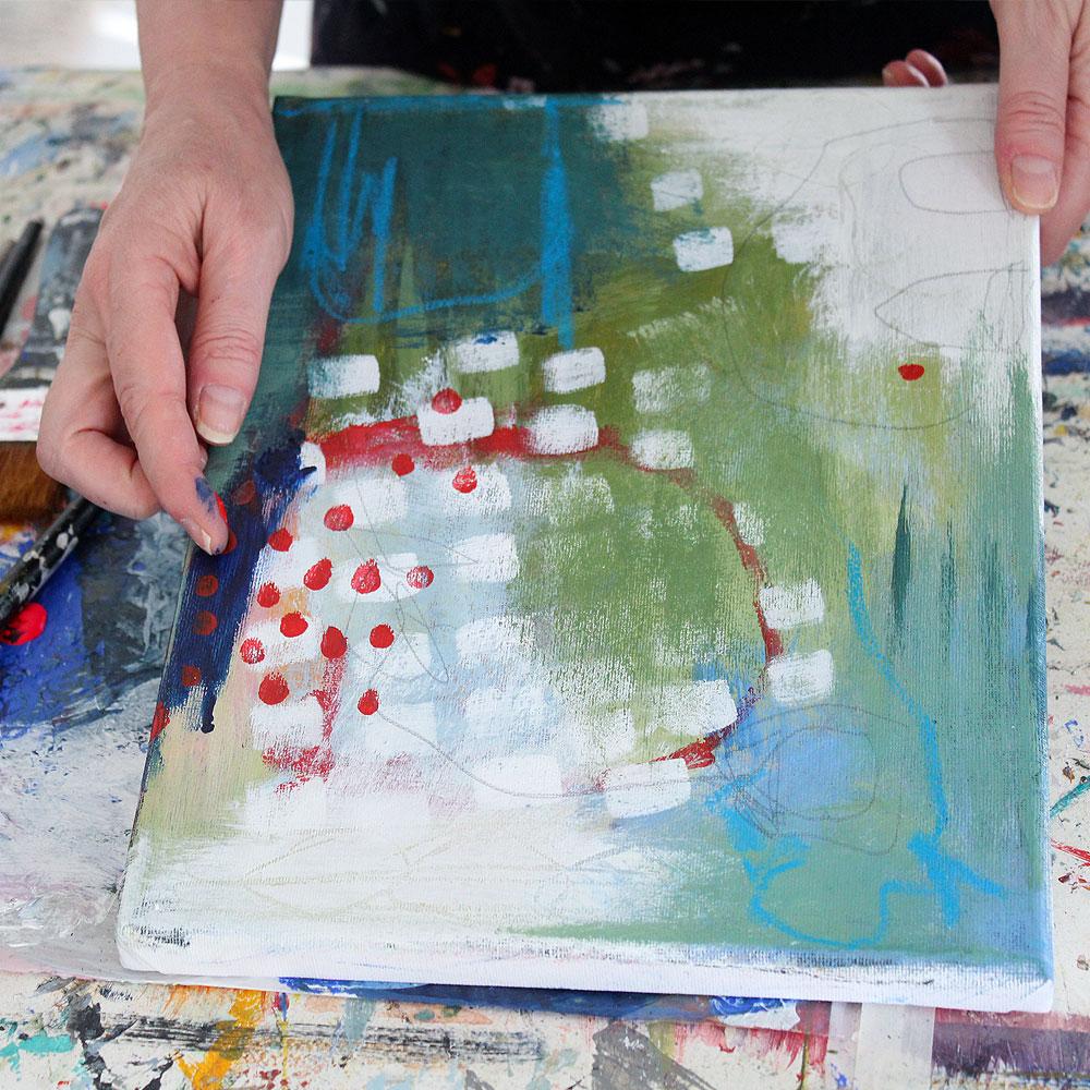 Lær at male tørt i tørt forside gallery